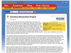 Cemetery Restoration Project Lesson Plan