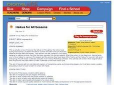 Haikus for All Seasons Lesson Plan