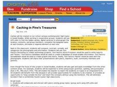 Caching in Pine's Treasures Lesson Plan