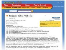 Force and Motion Flip Books Lesson Plan