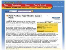 Plant, Point and Record the Life Cycles of Plants Lesson Plan