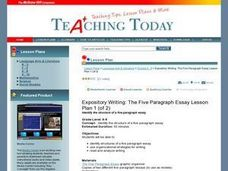 Expository Writing: The Five Paragraph Essay Lesson Plan 1 (of 2) Lesson Plan