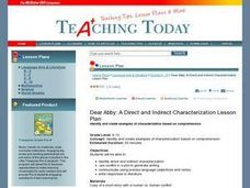 Dear Abby: A Direct and Indirect Characterization Lesson Plan Lesson Plan