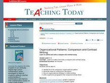 Organizational Patterns: Comparison and Contrast Writing Lesson Plan