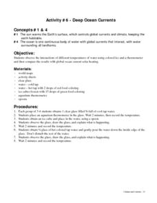 Deep Ocean Currents Lesson Plan