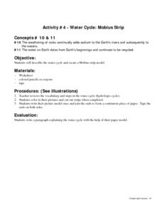 Water Cycle: Mobius Strip Lesson Plan