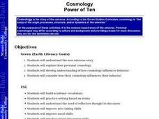 Cosmology:  Power of Ten Lesson Plan