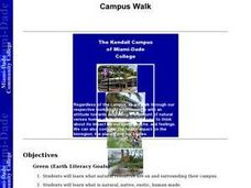 Campus Walk Lesson Plan