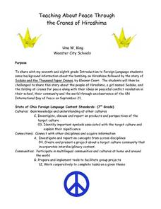 Teaching About Peace Through the Cranes of Hiroshima Lesson Plan
