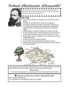 Meet Antonin Dvorak Lesson Plan