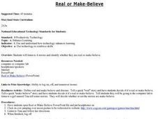 Real or Make-Believe Lesson Plan