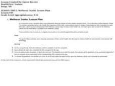 Wellness Center Lesson Plan Lesson Plan