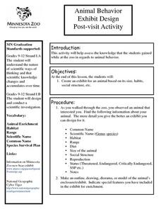 Animal Behavior Exhibit Design Post-visit Activity Lesson Plan