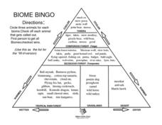 Biome Bingo Lesson Plan