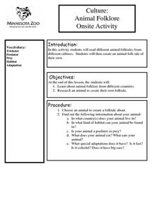 Culture: Animal Folklore Onsite Activity Lesson Plan