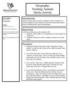 Geography: Tracking Animals Onsite Activity Lesson Plan