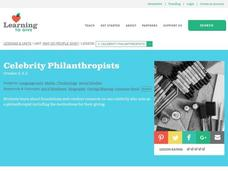 Celebrity Philanthropists Lesson Plan
