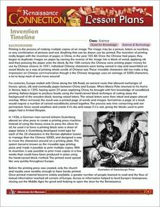 Invention Timeline Lesson Plan