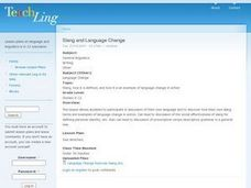 Slang and Language Change Lesson Plan