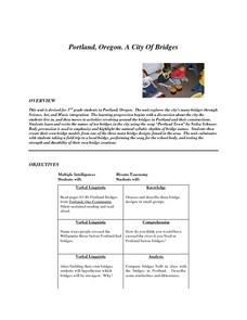 Portland, Oregon. A City Of Bridges Lesson Plan