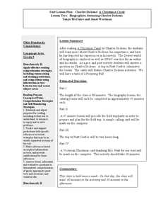 Unit Lesson Plan: Charles Dickens' A Christmas Carol Lesson Plan