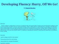 Developing Fluency: Hurry, Off We Go! Lesson Plan