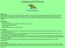 Language Arts: Leaping with Fluency Lesson Plan