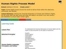 Human Rights Issues Around the World Lesson Plan