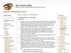 Water Anaysis Lesson Plan