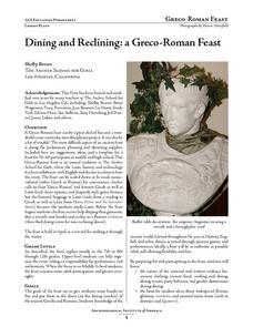 Dining and Reclining: a Greco-Roman Feast Lesson Plan