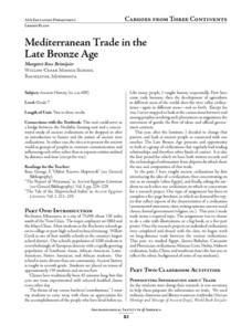 Mediterranean Trade in the Late Bronze Age Lesson Plan