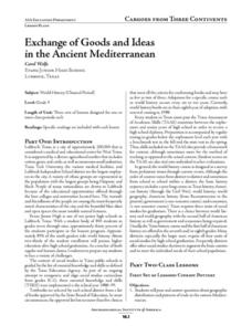 Exchange of Goods and Ideas in the Ancient Mediterranean Lesson Plan
