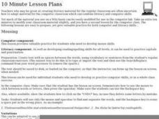 Mousing Lesson Plan