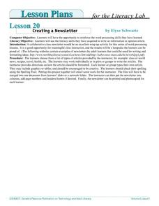 Creating a Newsletter Lesson Plan