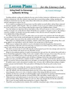 Using Email to Encourage Authentic Writing Lesson Plan