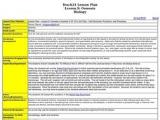 Cell Structures, Functions, and Processes Lesson Plan