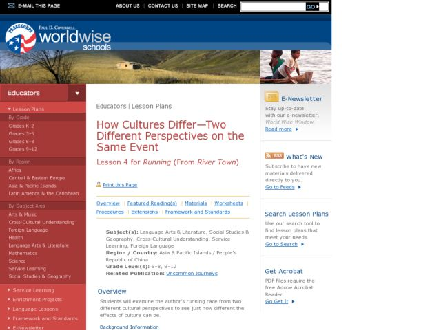 How Cultures Differ-Two Different Perspectives on the Same Event Lesson Plan