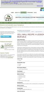 Cell Wall Recipe: A Lesson on Biofuels Lesson Plan