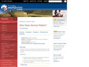 Why Does Service Matter? Lesson Plan