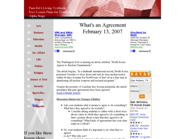 What's An Agreement? Lesson Plan