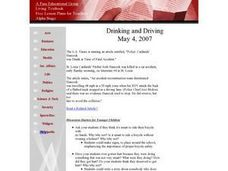 Social Studies: Drinking and Driving Lesson Plan