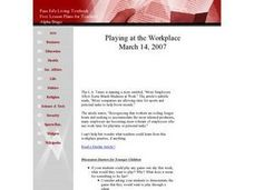 Playing at the Workplace Lesson Plan