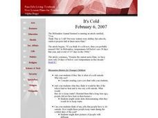 It's Cold Lesson Plan