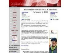 Saddam Hussein and the U.S. Elections Lesson Plan