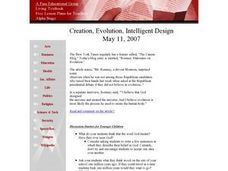 Creation, Evolution, Intelligent Design Lesson Plan