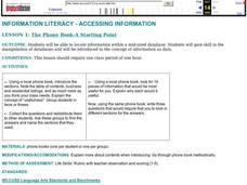The Phone Book-A Starting Point Lesson Plan