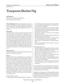 Transparent Shoebox Dig Lesson Plan
