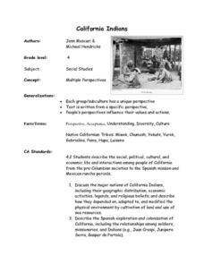 California Indians Lesson Plan
