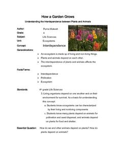 How A Garden Grows Lesson Plan
