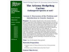 Genetic Analysis Lesson Plan